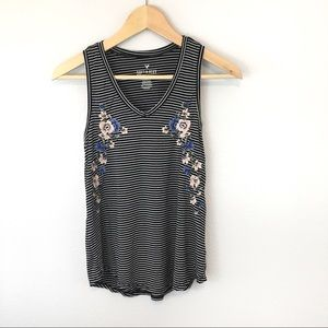 American Eagle Soft and Sexy Embroidered Tank